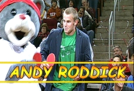 Clutch playing ping pong with Andy Roddick