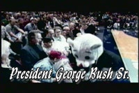 Clutch with George Bush