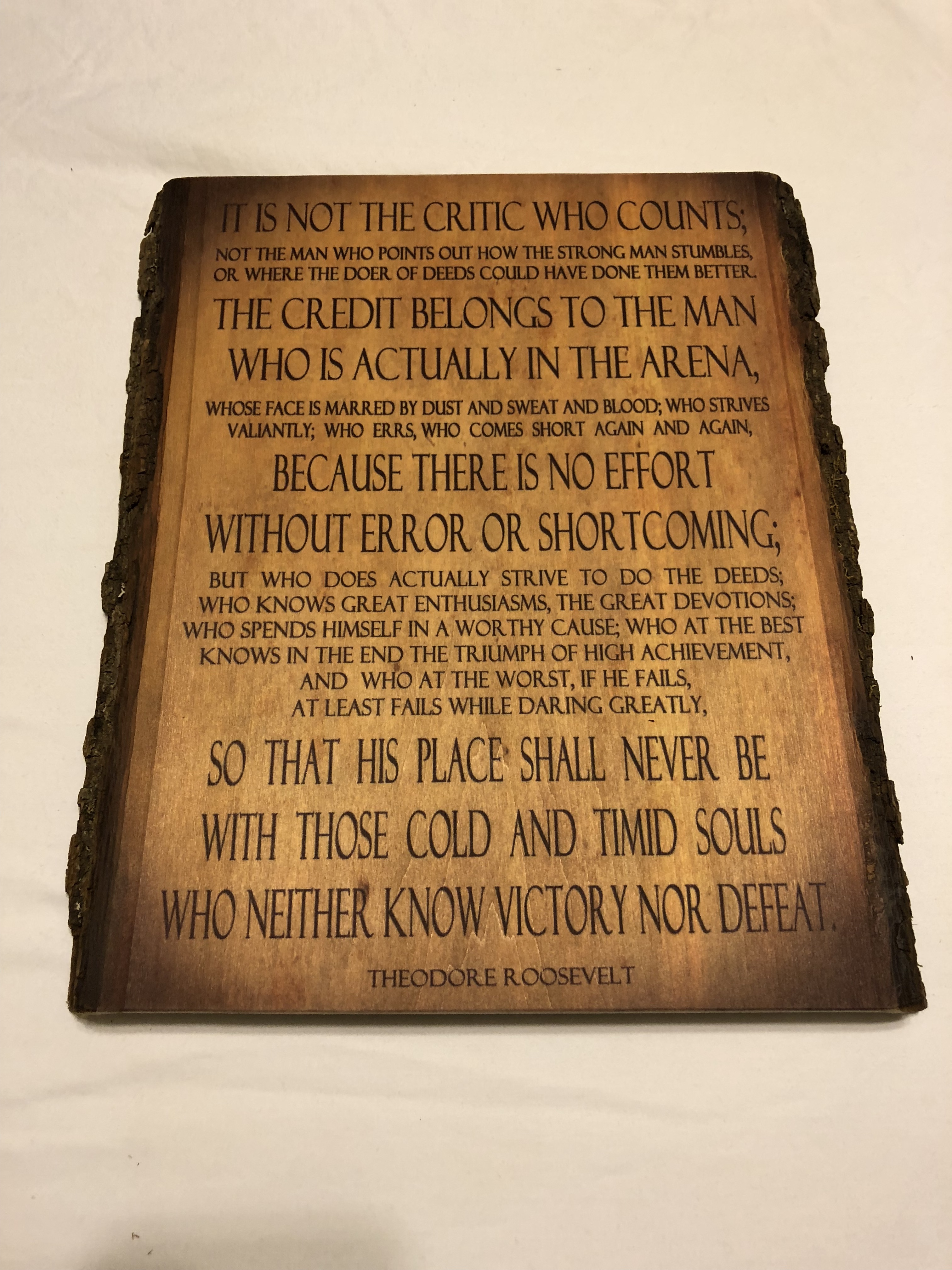 WOODEN TR QUOTE