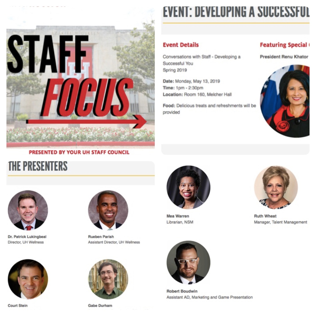 UH Staff Focus Presented by UH Staff Council