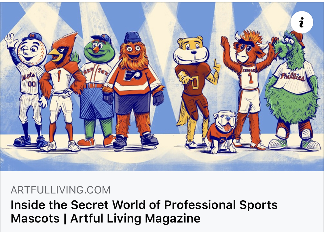 Artful Living Article about Mascots by Brittany Chaffee